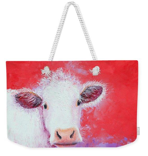 Cow Painting - Charolais Weekender Tote Bag