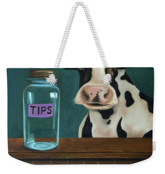 Cow Tipping Weekender Tote Bag