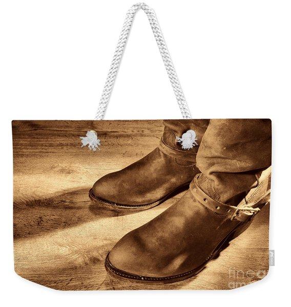 Cowboy Boots On Saloon Floor Weekender Tote Bag