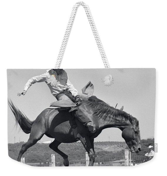 Cowboy On Bucking Horse, C.1950s Weekender Tote Bag