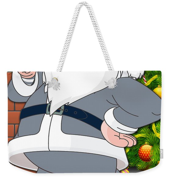 Cowboys Santa Claus Weekender Tote Bag
