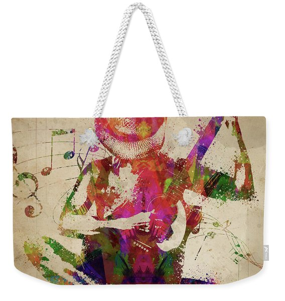 Cowgirl In The Sand  Weekender Tote Bag