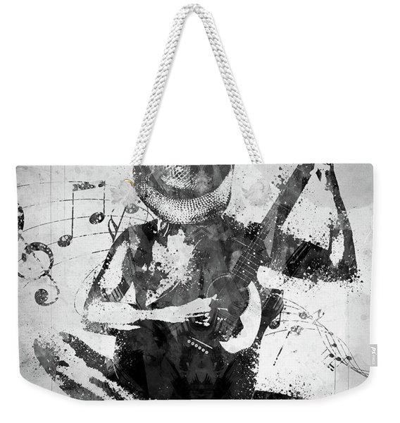 Cowgirl In The Sand White And Black Weekender Tote Bag