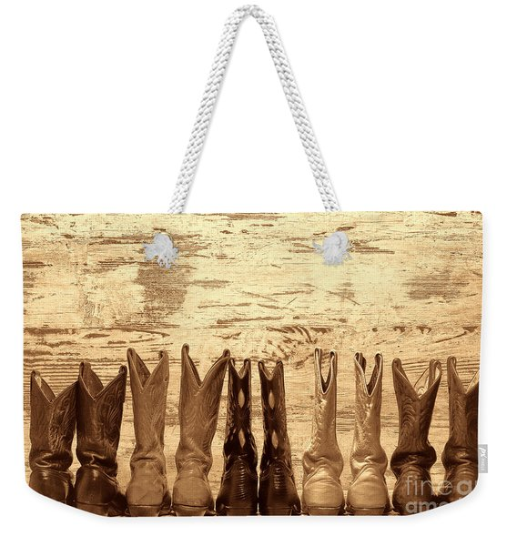 Cowgirls Night Out Weekender Tote Bag
