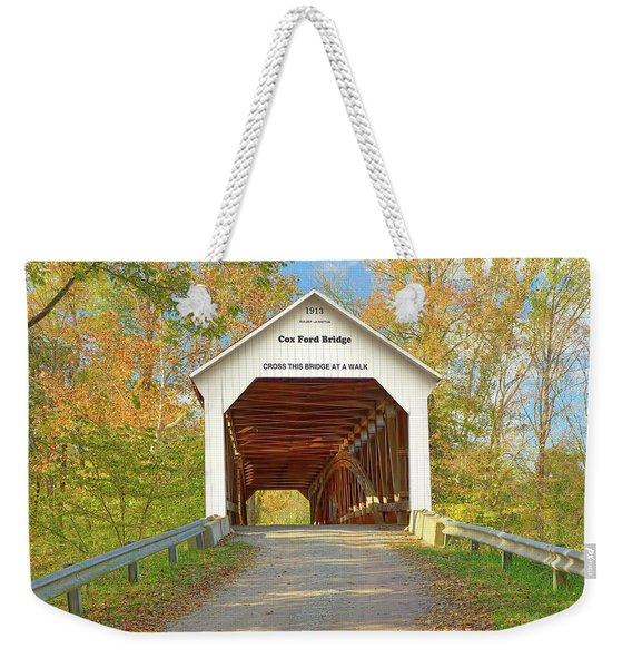 Cox Ford Covered Bridge Weekender Tote Bag