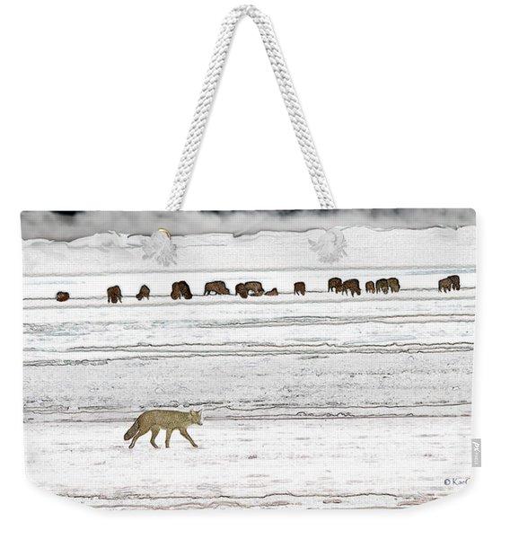 Coyote And Bison Weekender Tote Bag