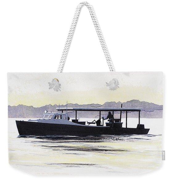Crab Boat Slick Calm Day Chesapeake Bay Maryland Weekender Tote Bag