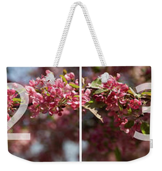 Crabapple In Spring Panoramic Map Weekender Tote Bag