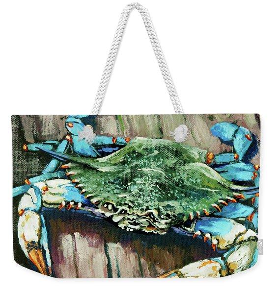 Crabby Blue Weekender Tote Bag