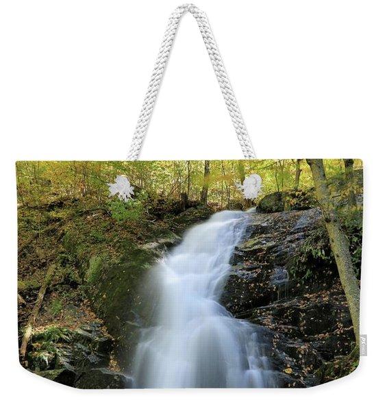 Crabtree Falls In The Fall Weekender Tote Bag