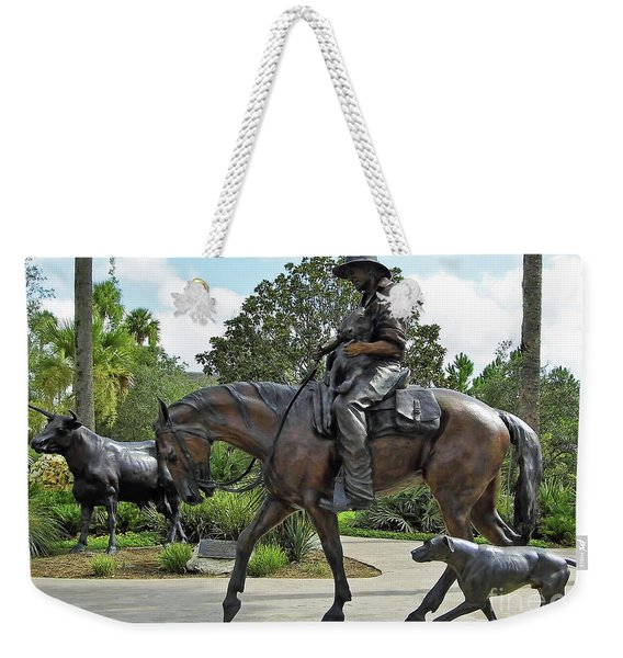 Cracker Cowboy And His Dog Weekender Tote Bag