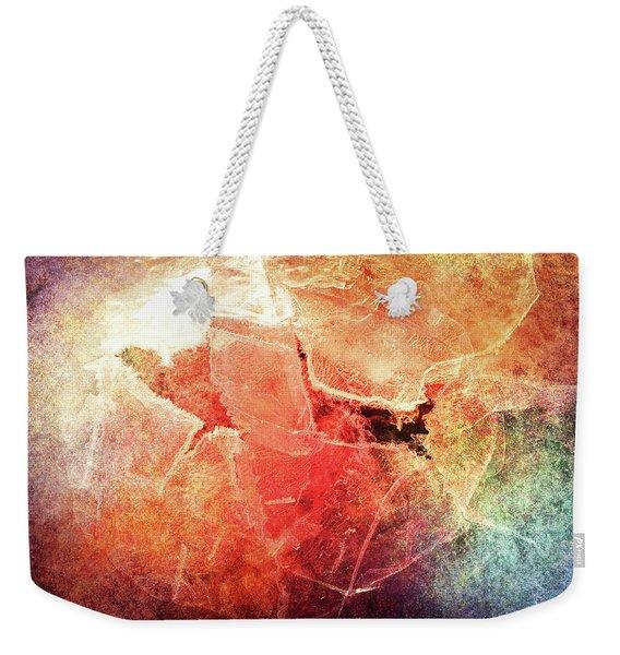 Cracks Of Colors Weekender Tote Bag