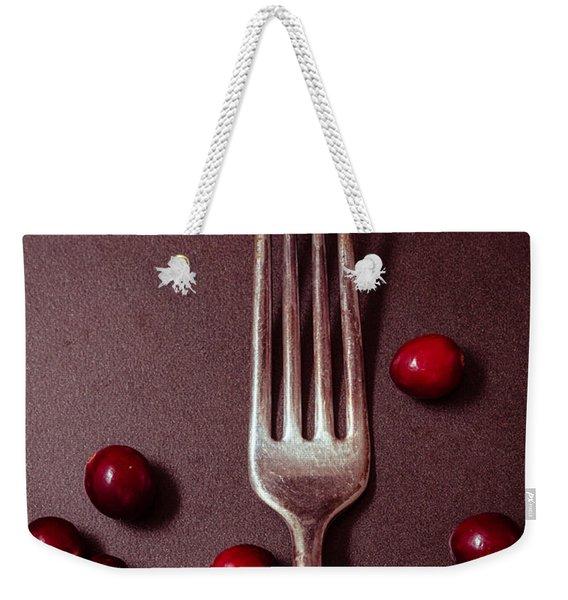Cranberries And Fork Weekender Tote Bag