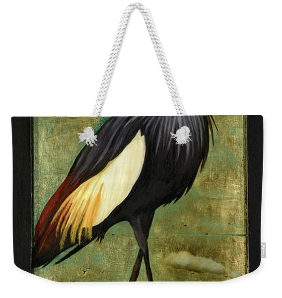 Crane Om A Strawberry Weekender Tote Bag