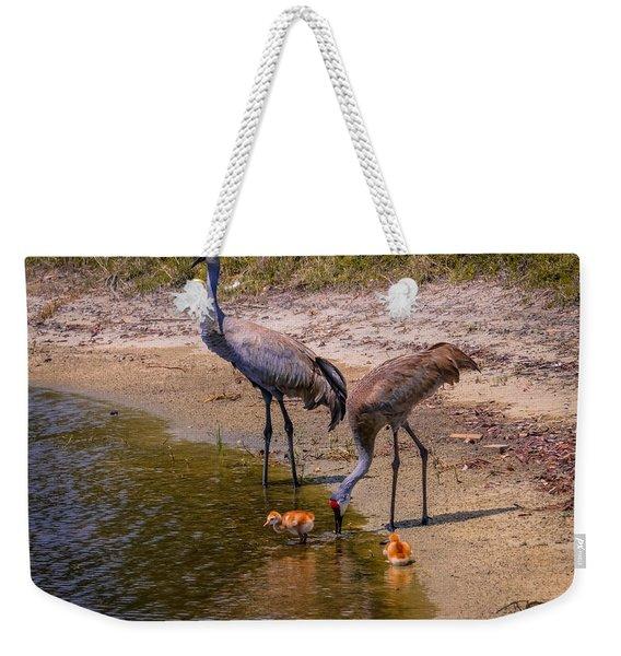 Cranes In The Lake Weekender Tote Bag