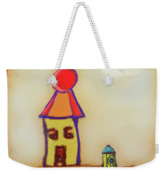 Cranky Clown Cabana And Fire Hydrant Weekender Tote Bag