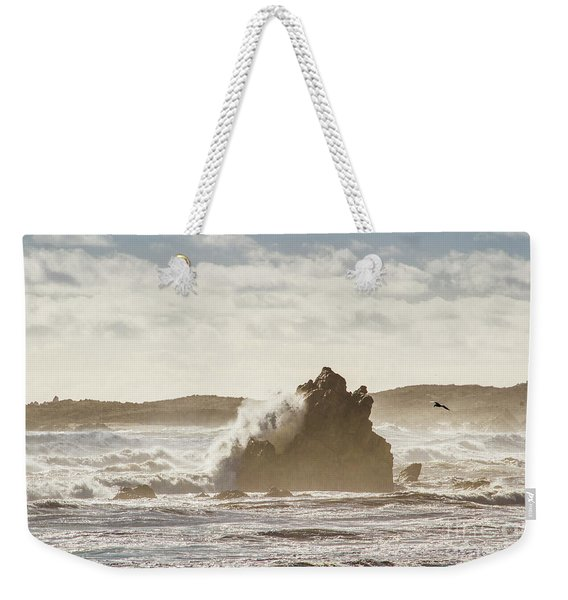 Crashing Tide Weekender Tote Bag