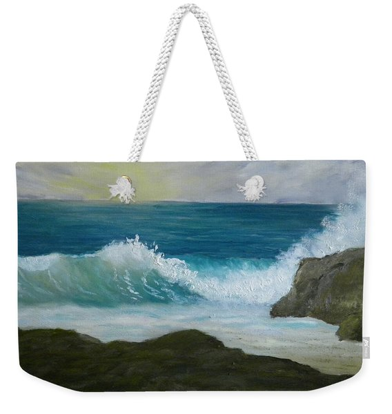 Crashing Wave 3 Weekender Tote Bag