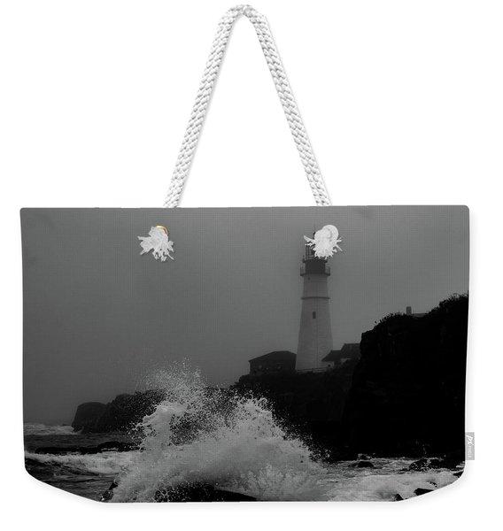 Crashing Waves On A Foggy Morning Weekender Tote Bag