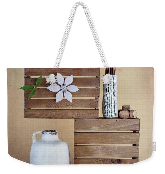 Crates With Flower Still Life Weekender Tote Bag
