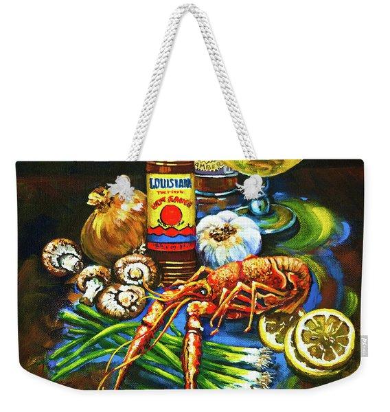 Crawfish Fixin's Weekender Tote Bag