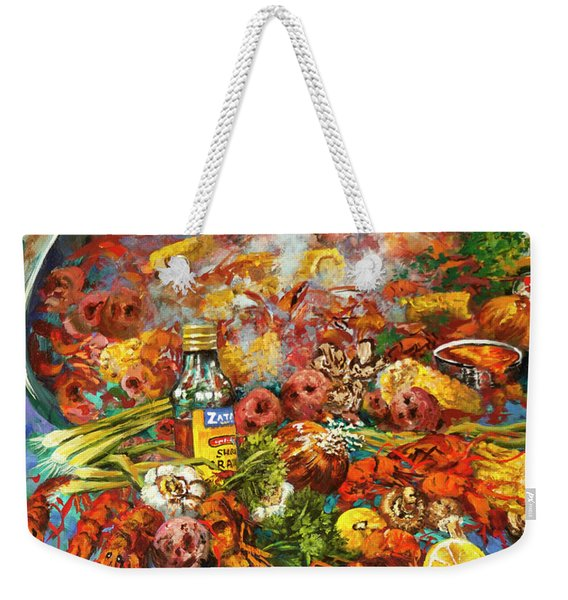 Crawfish Time Weekender Tote Bag