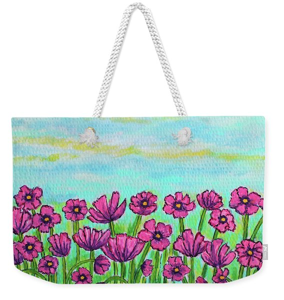 Crazy For Cosmos Weekender Tote Bag