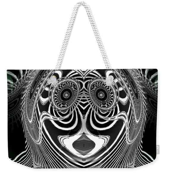 Weekender Tote Bag featuring the digital art Crazy Girl by Visual Artist Frank Bonilla