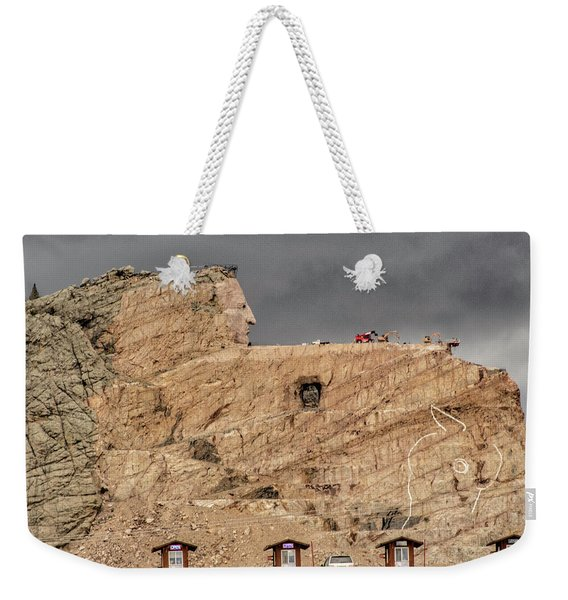 ...entrance Crazy Horse Memorial South Dakota.... Weekender Tote Bag