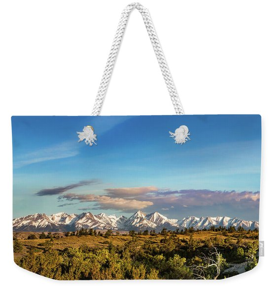 Crazy Mountains Weekender Tote Bag