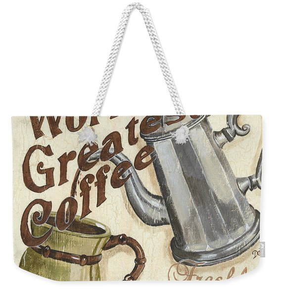 Cream Coffee 1 Weekender Tote Bag