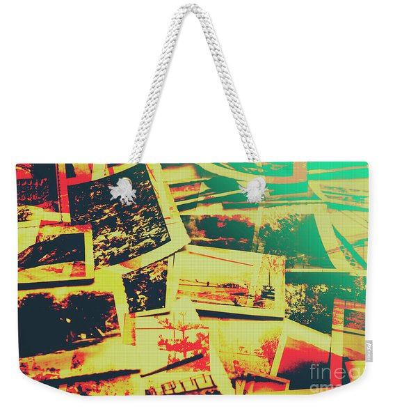 Creative Retro Film Photography Background Weekender Tote Bag