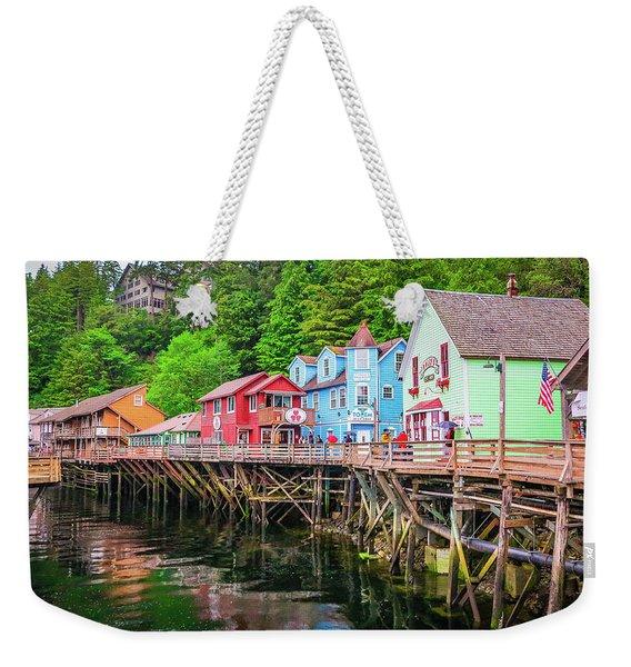 Creek Street Ketchikan Alaska Weekender Tote Bag