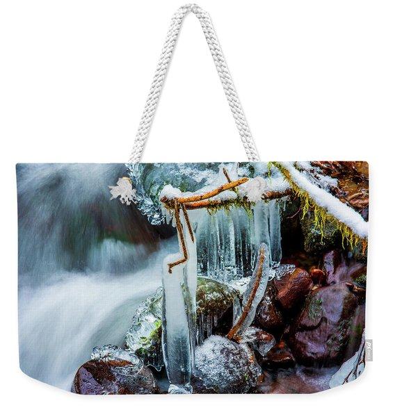 Creekside Icicles Weekender Tote Bag