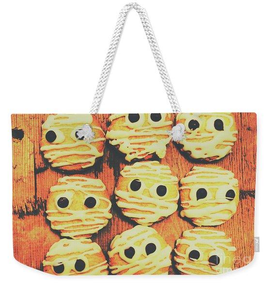 Creepy And Kooky Mummified Cookies  Weekender Tote Bag
