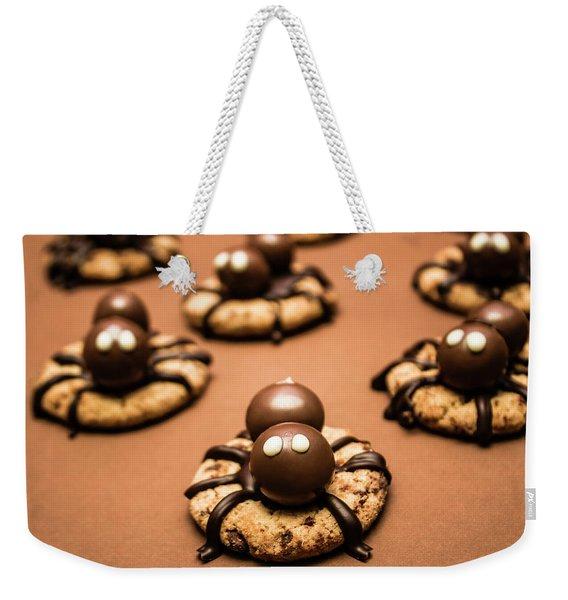 Creepy Crawly Spider Bites. Halloween Food Weekender Tote Bag