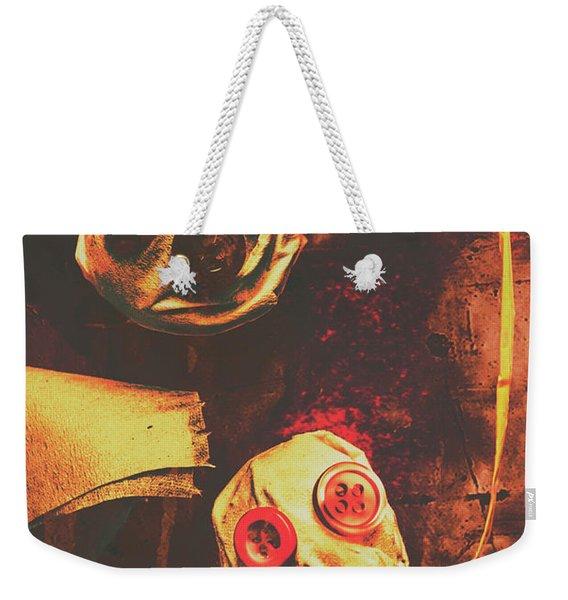 Creepy Halloween Scarecrow Dolls Weekender Tote Bag