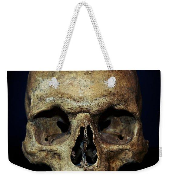 Creepy Skull Weekender Tote Bag