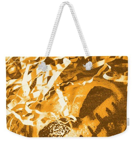 Creepy Vintage Pumpkin Head  Weekender Tote Bag