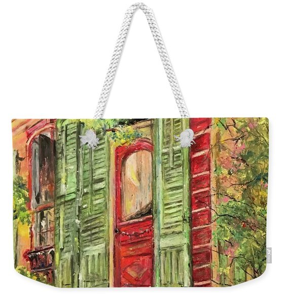 Creole Painted Lady In The Marigny Weekender Tote Bag