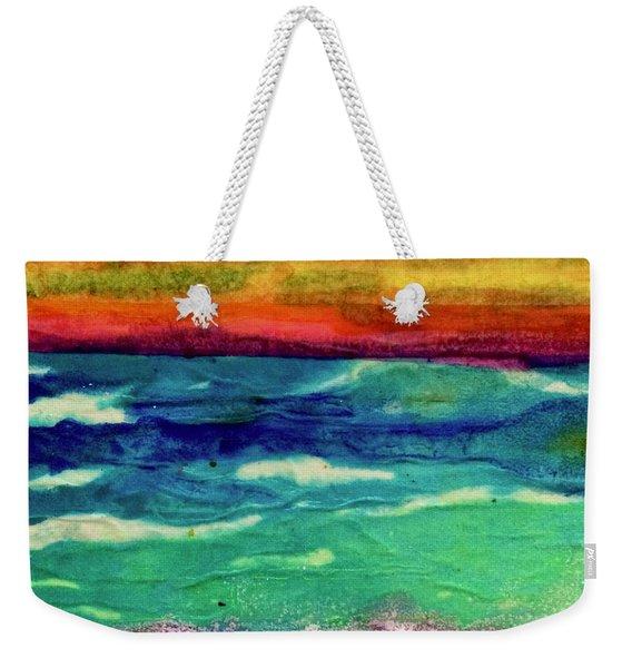Crepe Paper Sunset Weekender Tote Bag