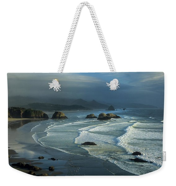 Crescent Beach And Surf Weekender Tote Bag