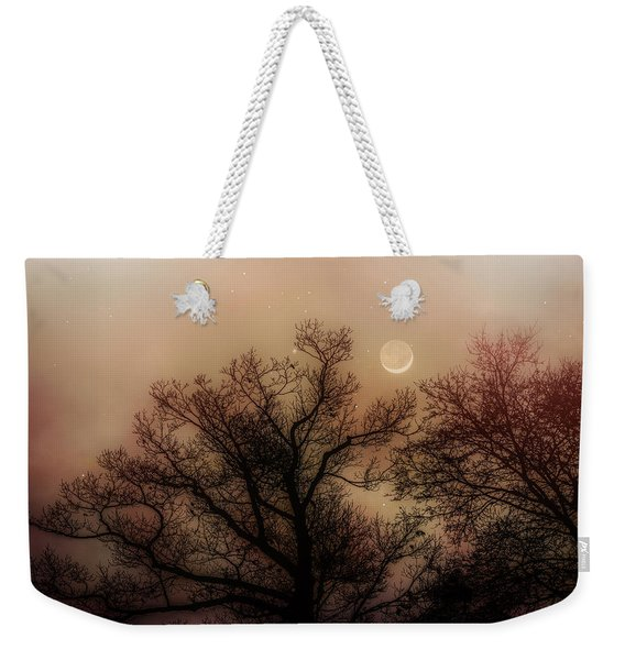Crescent Between The Trees Weekender Tote Bag