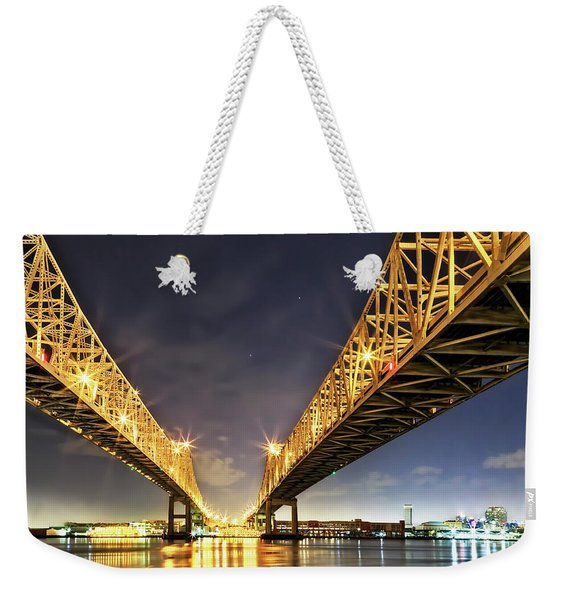 Crescent City Bridge In New Orleans Weekender Tote Bag