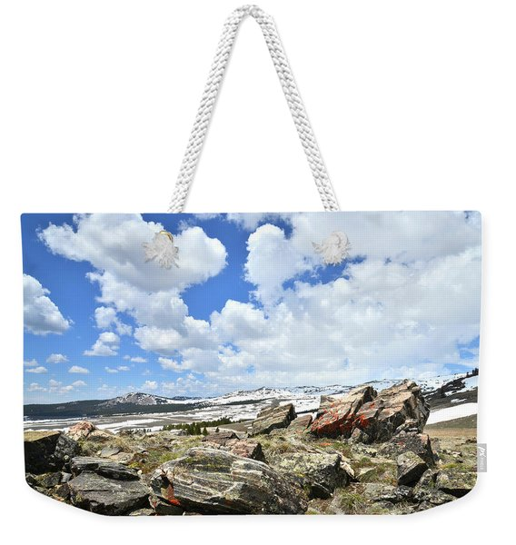 Crest Of Big Horn Pass In Wyoming Weekender Tote Bag