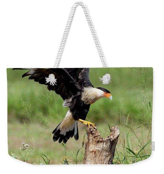 Crested Caracara Landing Weekender Tote Bag
