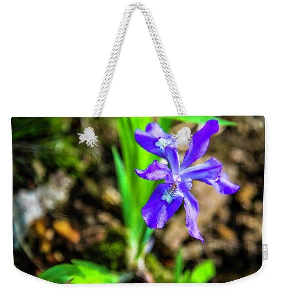 Crested Dwarf Iris Weekender Tote Bag