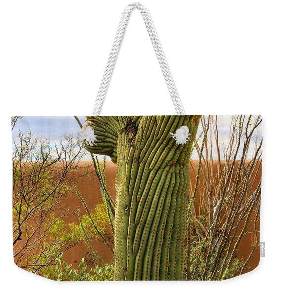 Crested Saguaro Cactus Weekender Tote Bag