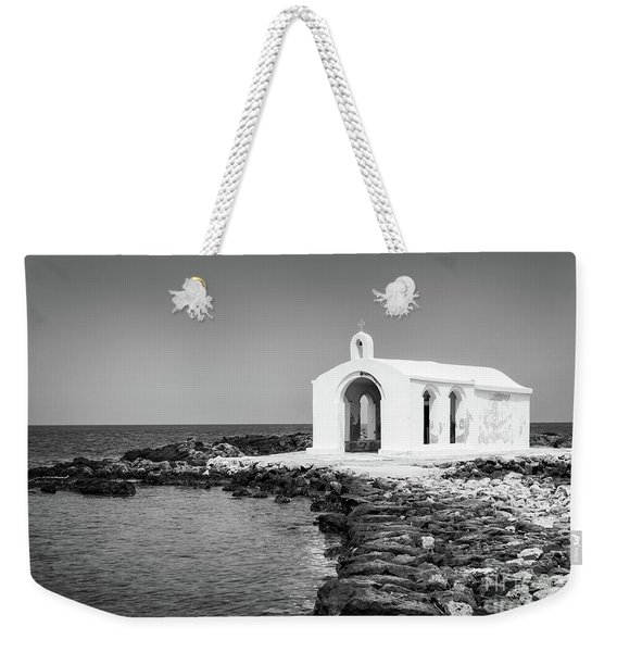 Cretan Chapel - Black And White Weekender Tote Bag