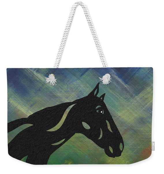 Crimson - Abstract Horse Weekender Tote Bag